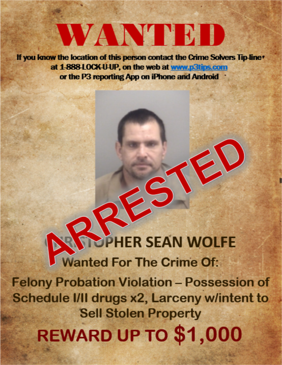 wolfe arrested